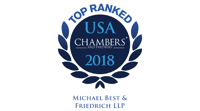 Twenty-Two Michael Best Partners Recognized in Chambers USA 2017 Photo