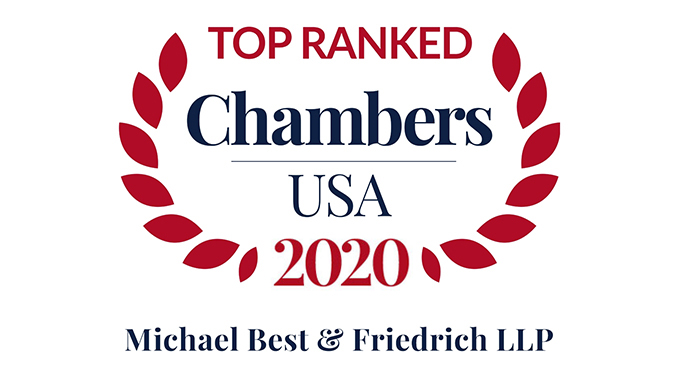Twenty-Four Michael Best Partners Recognized in Chambers USA 2019 Photo